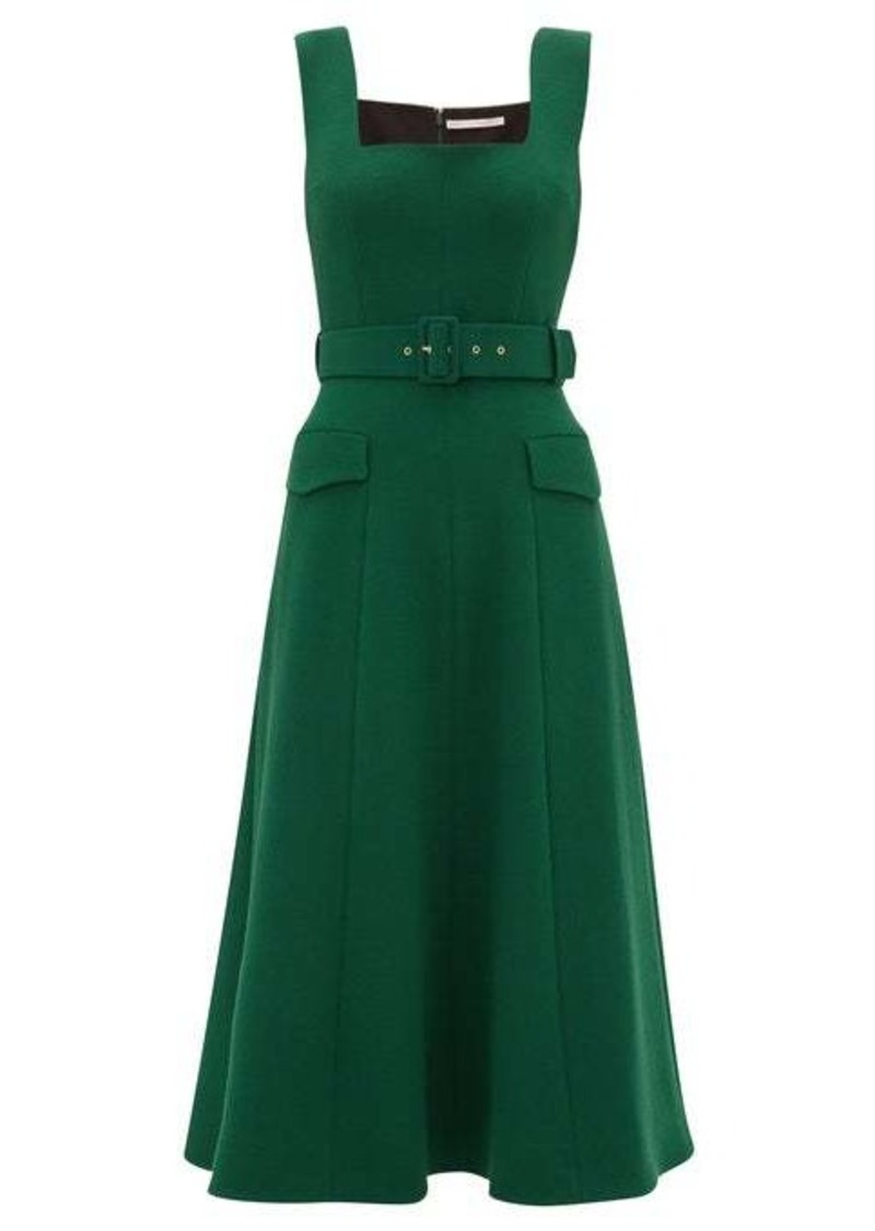 Emilia Wickstead Petra belted wool-crepe dress
