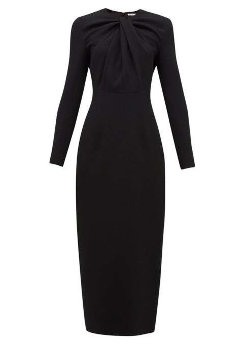 Emilia Wickstead Remy gathered crepe midi dress