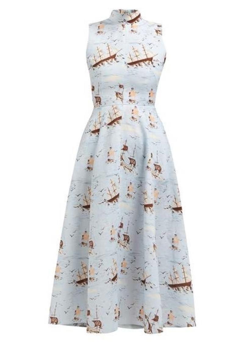 Emilia Wickstead Sheila ship-print midi dress