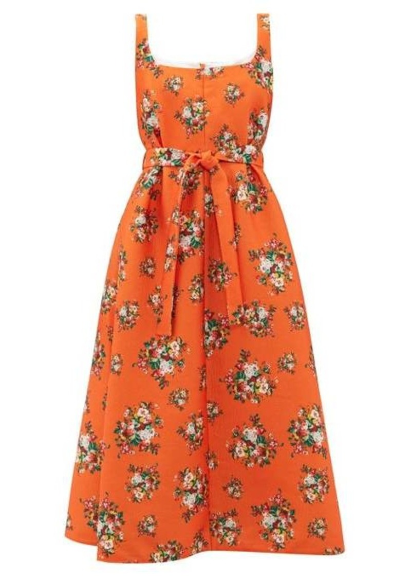 Emilia Wickstead Shelly floral-print cloqué dress