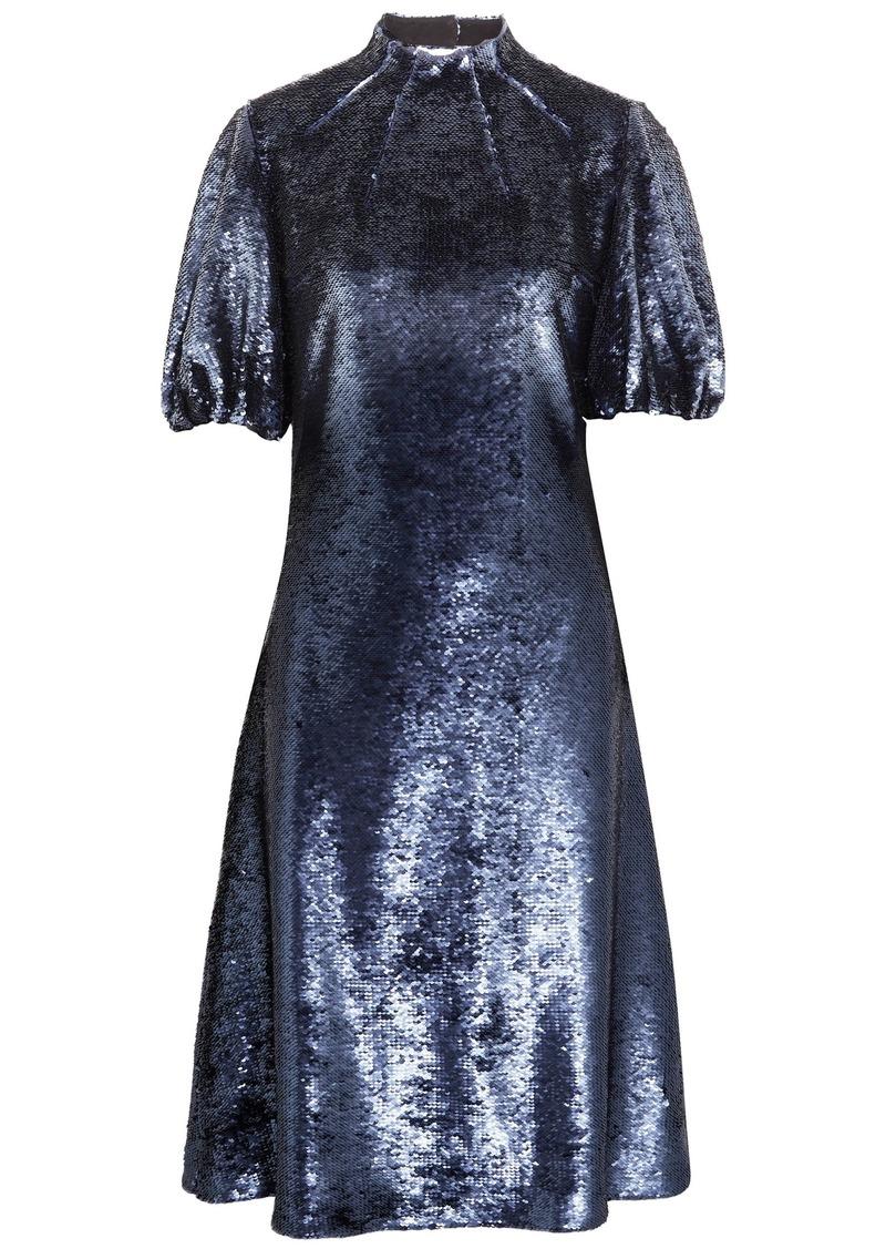 Emilia Wickstead Woman Amara Cutout Sequined Tulle Dress Indigo
