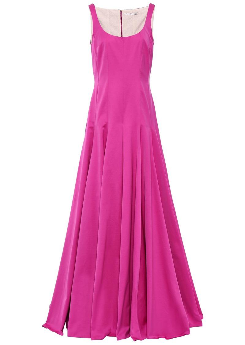 Emilia Wickstead Woman Amita Pleated Cotton-blend Faille Gown Magenta