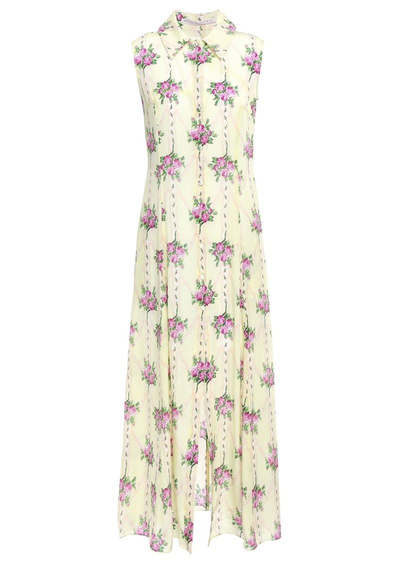 Emilia Wickstead Woman Celia Floral-print Silk Crepe De Chine Midi Dress Cream