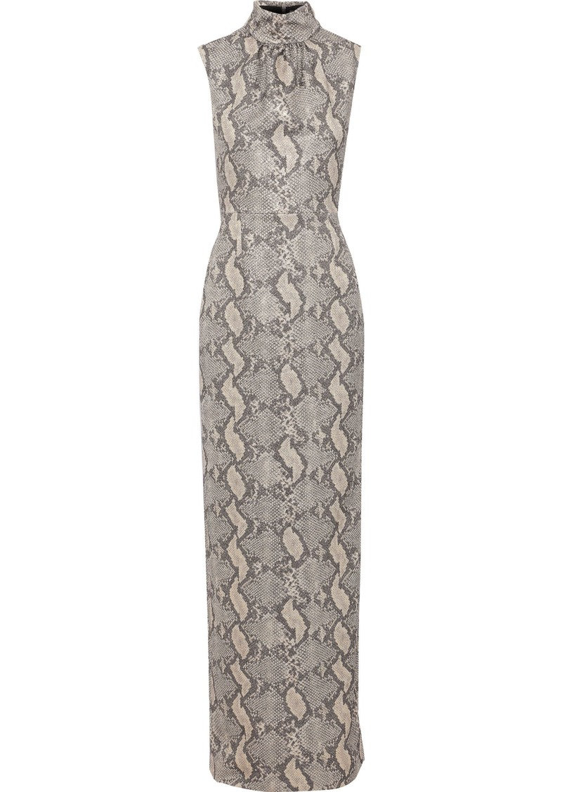 Emilia Wickstead Woman Georgina Metallic Snake-print Crepe Gown Animal Print
