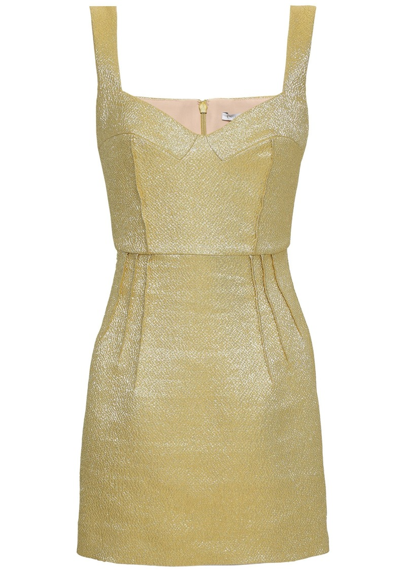 Emilia Wickstead Woman Judita Metallic Cloqué Mini Dress Marigold