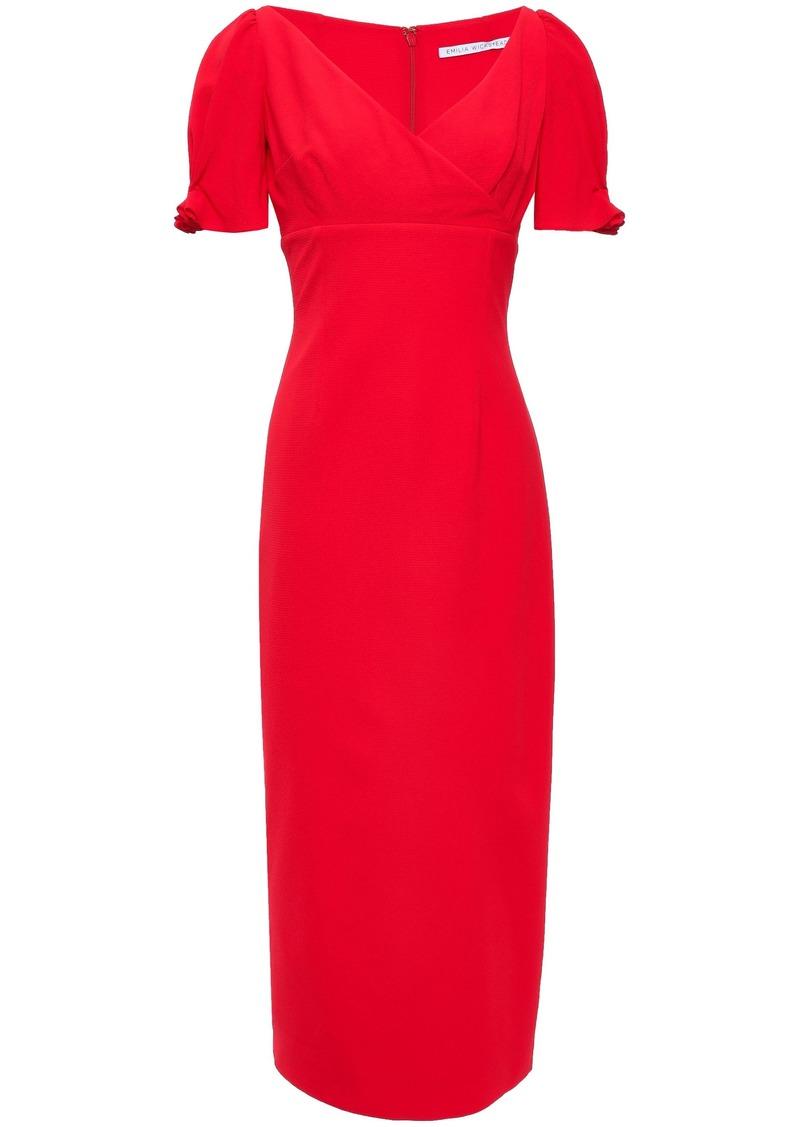 Emilia Wickstead Woman Karinette King Ruffle-trimmed Crepe Midi Dress Tomato Red