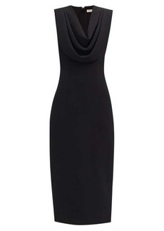 Emilia Wickstead Yuri cowl-neck crepe dress
