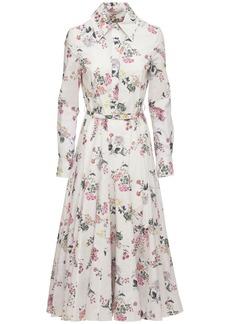 Emilia Wickstead Floral Cotton Poplin Midi Dress