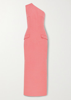 Emilia Wickstead Milena One-shoulder Cloque Maxi Dress