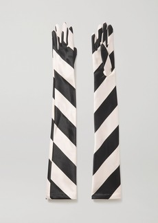 Emilia Wickstead Striped Satin Gloves