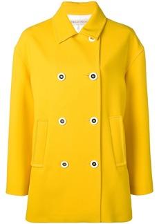 Emilio Pucci Yellow Double-Breasted Pea Coat