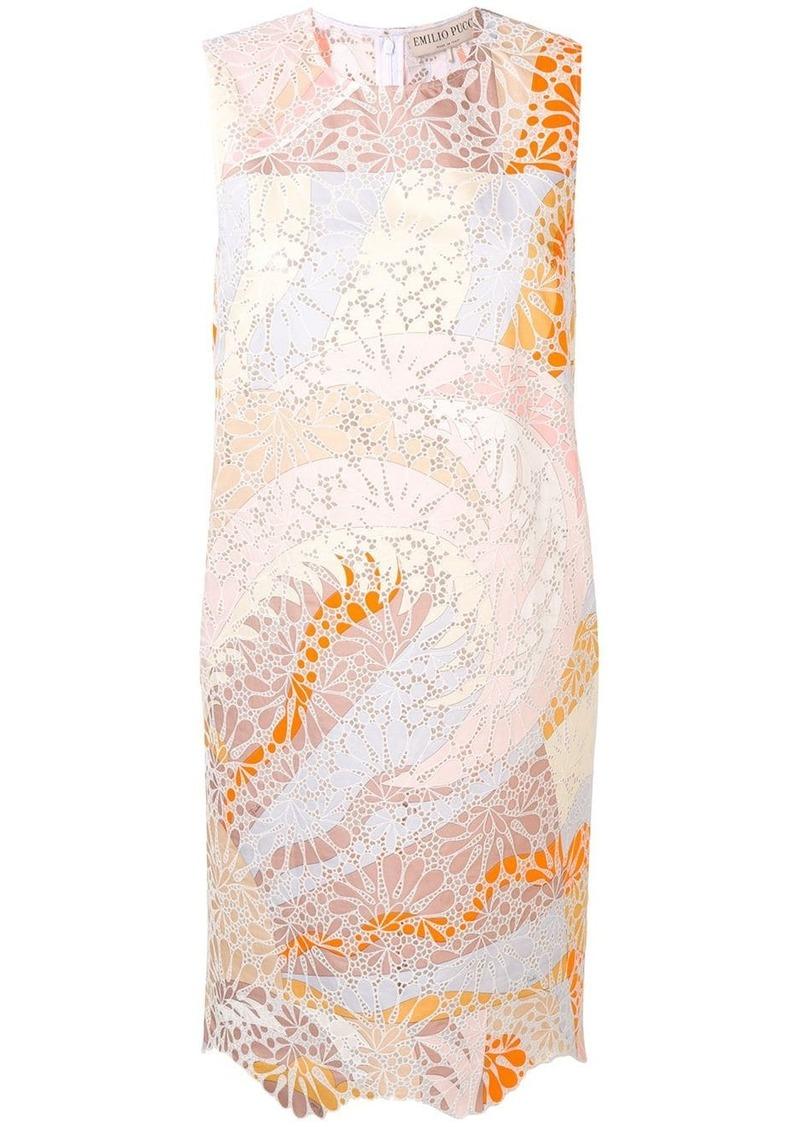 Emilio Pucci Sangallo Embroidered Acapulco Print Dress