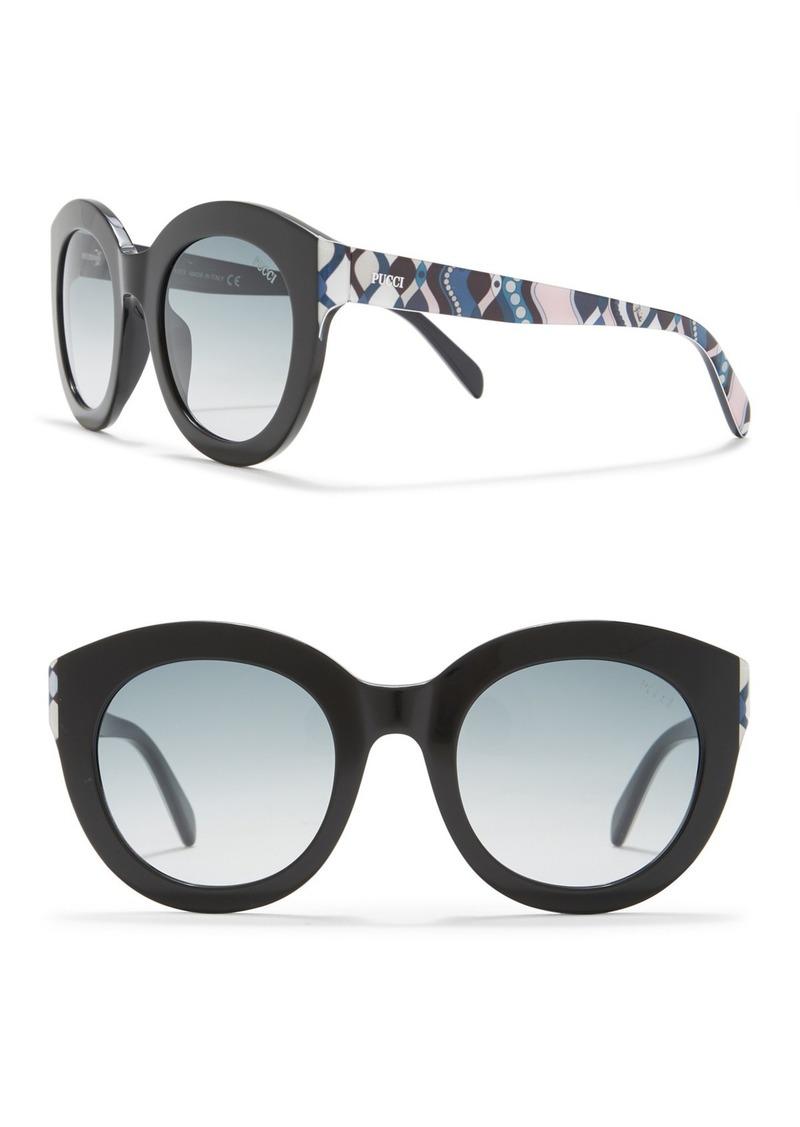 Emilio Pucci 51mm Round Sunglasses