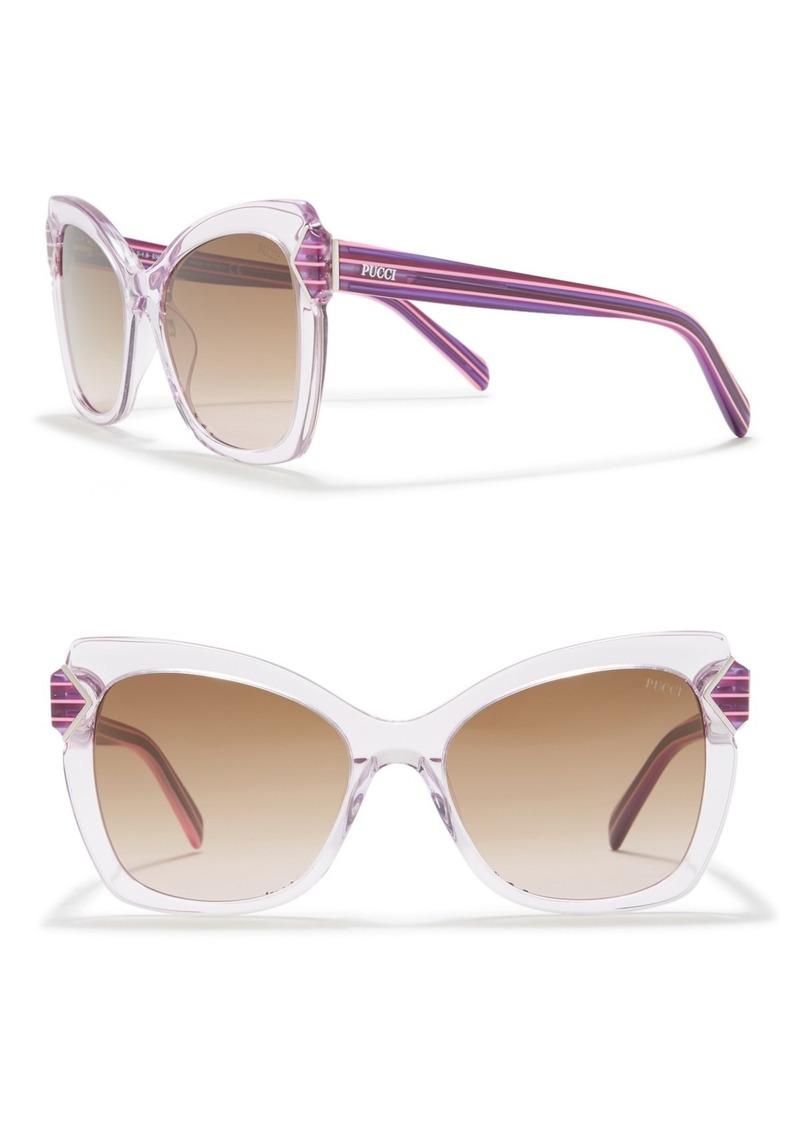 Emilio Pucci 55mm Cat Eye Sunglasses