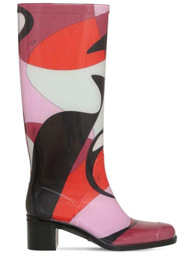 Emilio Pucci 55mm Printed Rubber Rain Boots