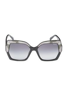 Emilio Pucci 56MM Injected Oversized Square Sunglasses