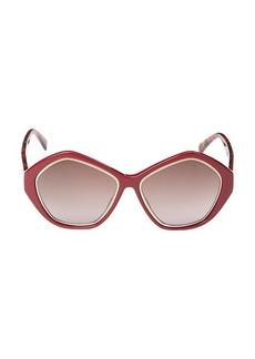 Emilio Pucci 57MM Hexagon Sunglasses
