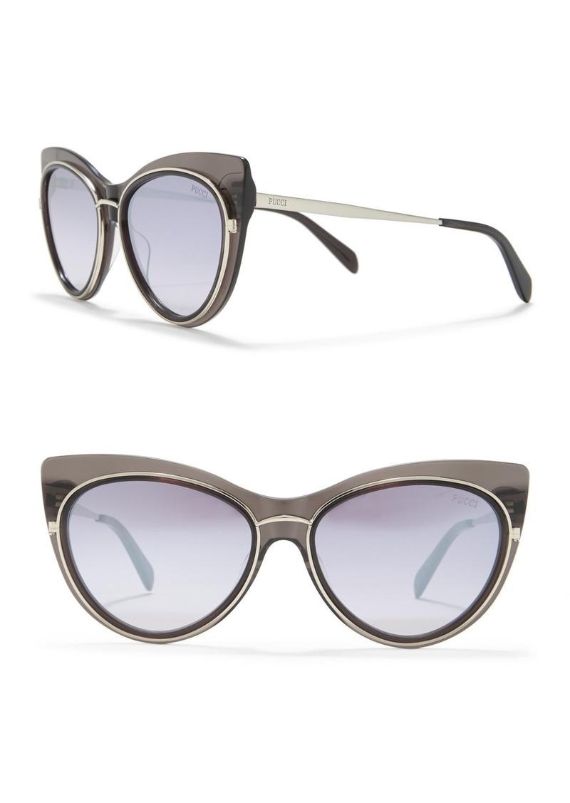 Emilio Pucci 57mm Modified Cat Eye Sunglasses