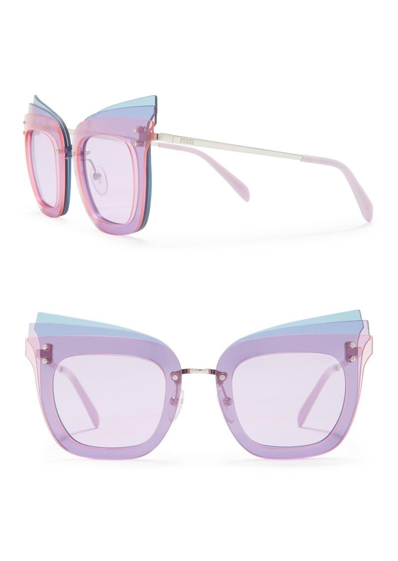 Emilio Pucci 66mm Modified Cat Eye Sunglasses