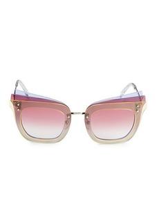 Emilio Pucci 66MM Oversized Cat Eye Sunglasses