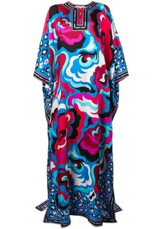 Emilio Pucci abstract floral kaftan dress