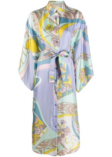 Emilio Pucci abstract floral print shirt dress