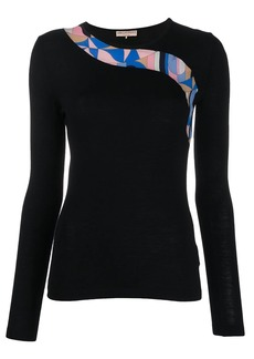 Emilio Pucci abstract panel jumper