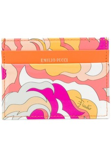 Emilio Pucci abstract print card holder