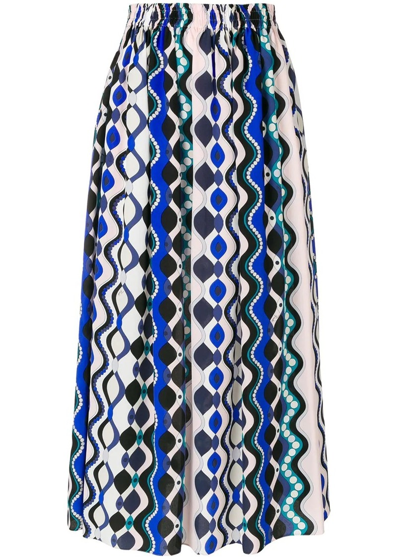 Emilio Pucci abstract print elasticated skirt
