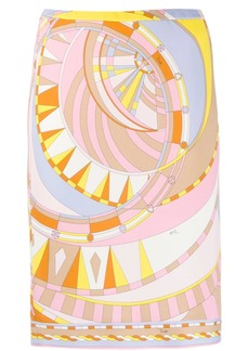 Emilio Pucci abstract-print fitted skirt