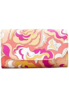 Emilio Pucci abstract print flap wallet