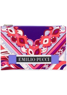 Emilio Pucci abstract print flat clutch