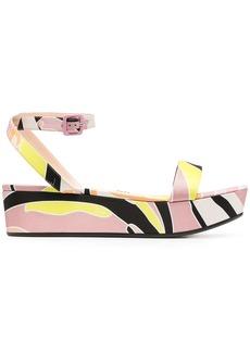 Emilio Pucci abstract-print flatform sandals