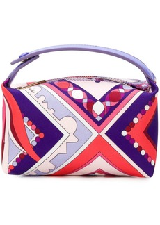 Emilio Pucci abstract print makeup bag