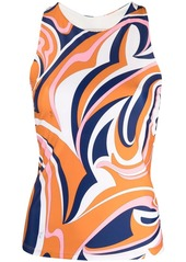 Emilio Pucci abstract-print sleeveless stretch top