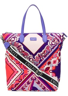 Emilio Pucci abstract print tote bag