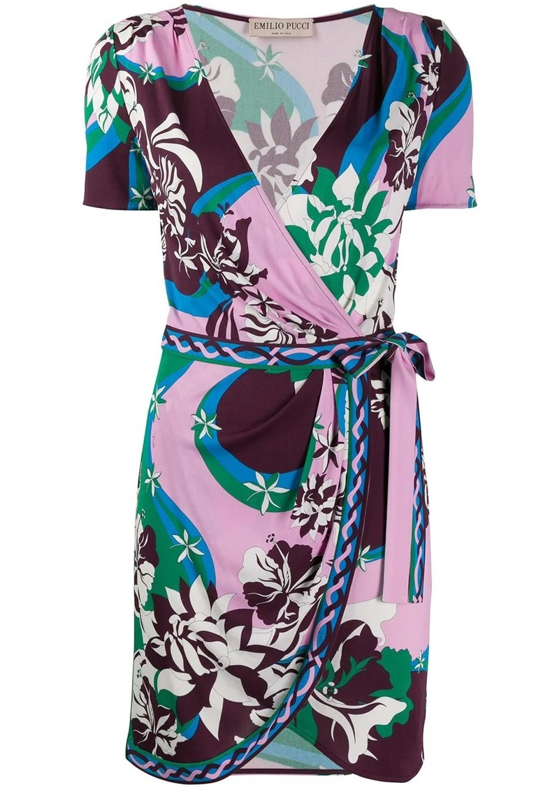 Emilio Pucci abstract print wrap dress