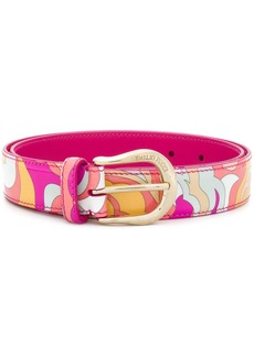Emilio Pucci abstract printed belt
