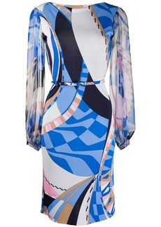 Emilio Pucci abstract-printed belted dress