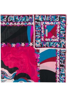 Emilio Pucci abstract stars print scarf