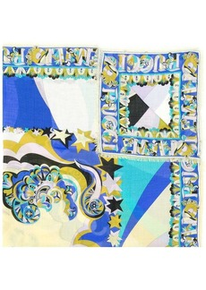 Emilio Pucci abstract stars printed scarf
