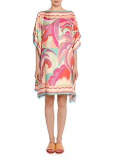 Emilio Pucci Acapulco Bateau-Neck Caftan Dress
