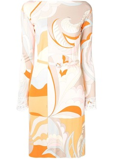 Emilio Pucci Acapulco Print Embroidered Dress