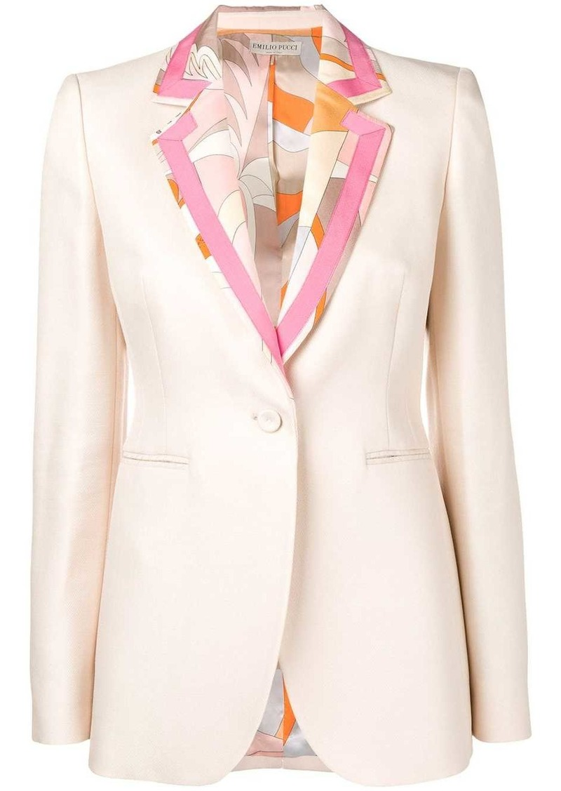 Emilio Pucci Acapulco Print Insert Tailored Jacket
