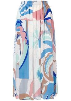Emilio Pucci Acapulco Print Midi Skirt