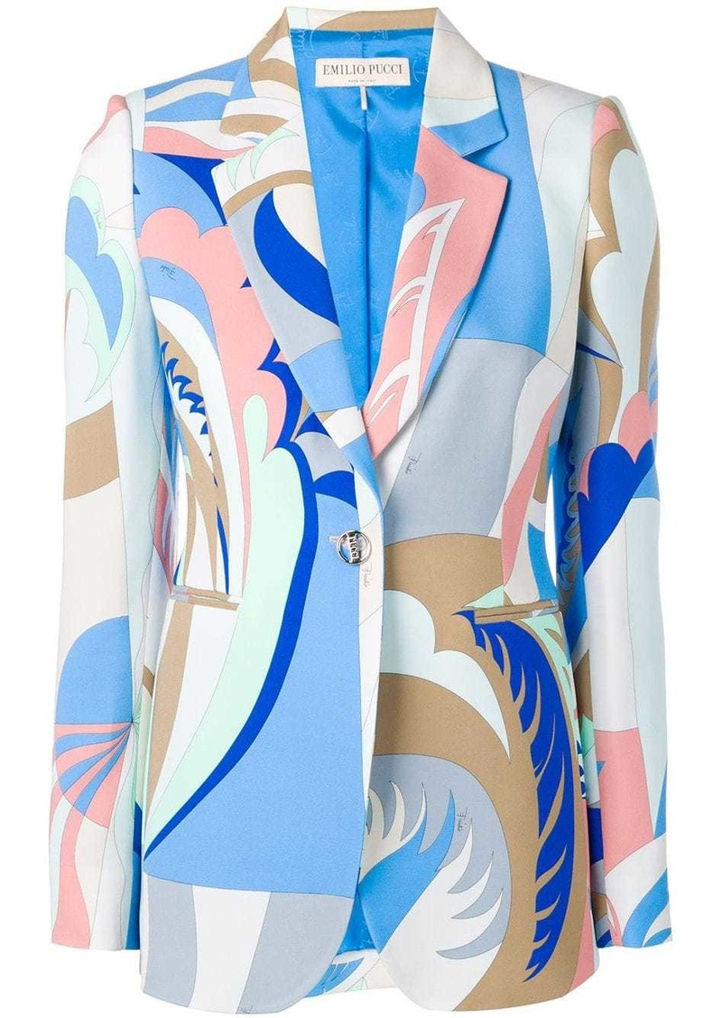 Emilio Pucci Acapulco Print Single-breasted Blazer