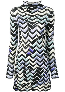 Emilio Pucci Alex Chevron-Knit Mini Dress