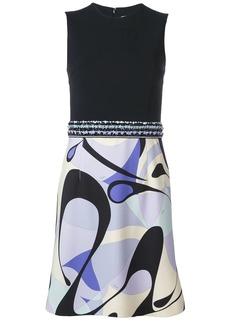 Emilio Pucci Alex Print Beaded Belt Mini Dress