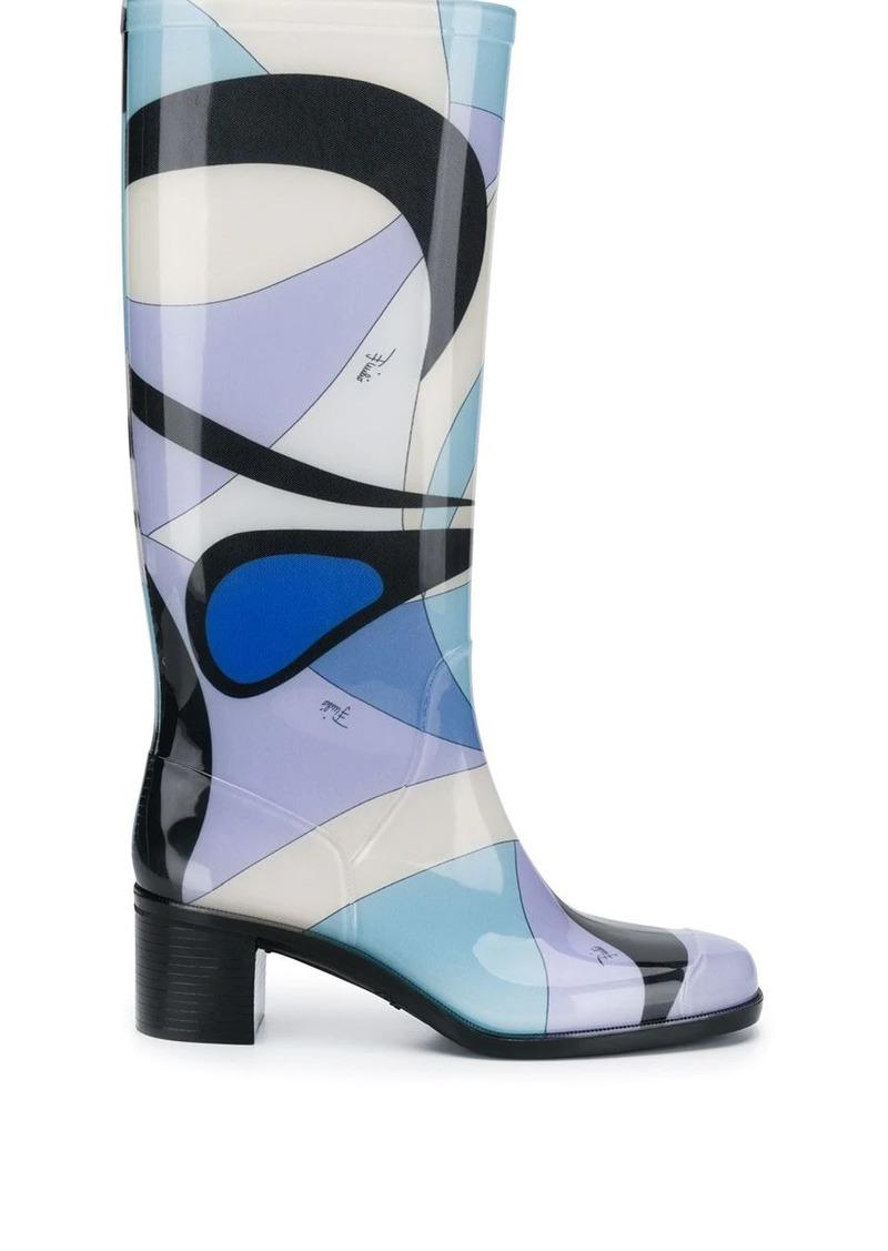 Emilio Pucci Alex print boots