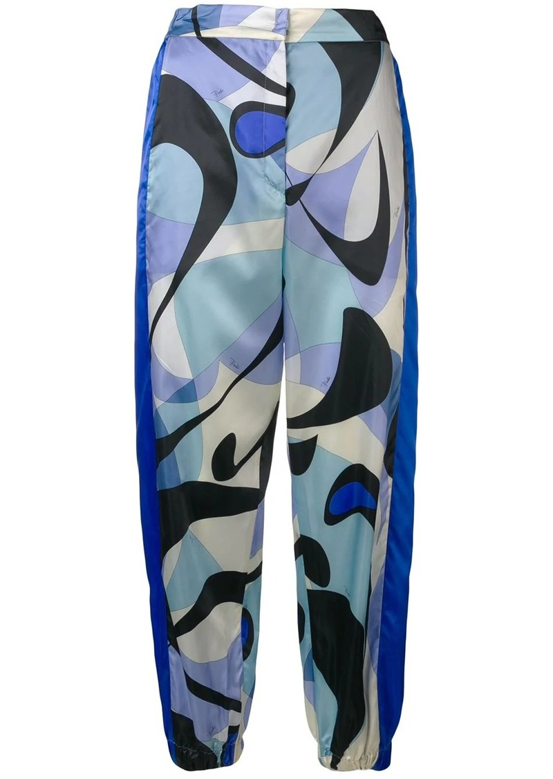 Emilio Pucci Alex Print Cuffed Ankle Trousers